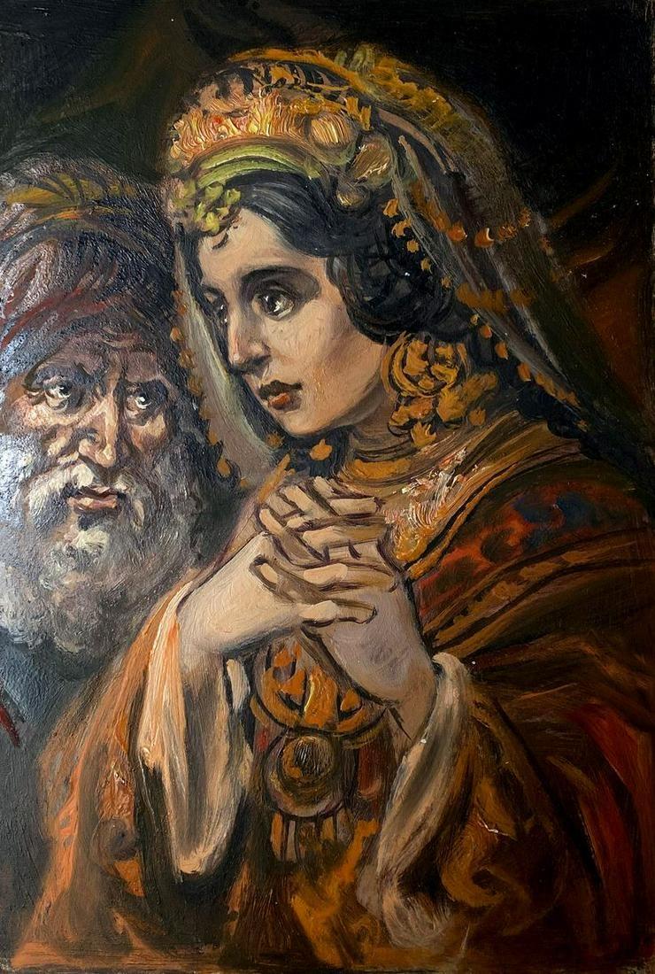 Oil painting Esther Alexander Arkadievich Litvinov