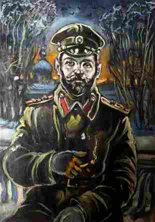 Oil painting Portrait of Nicholas II Alexander