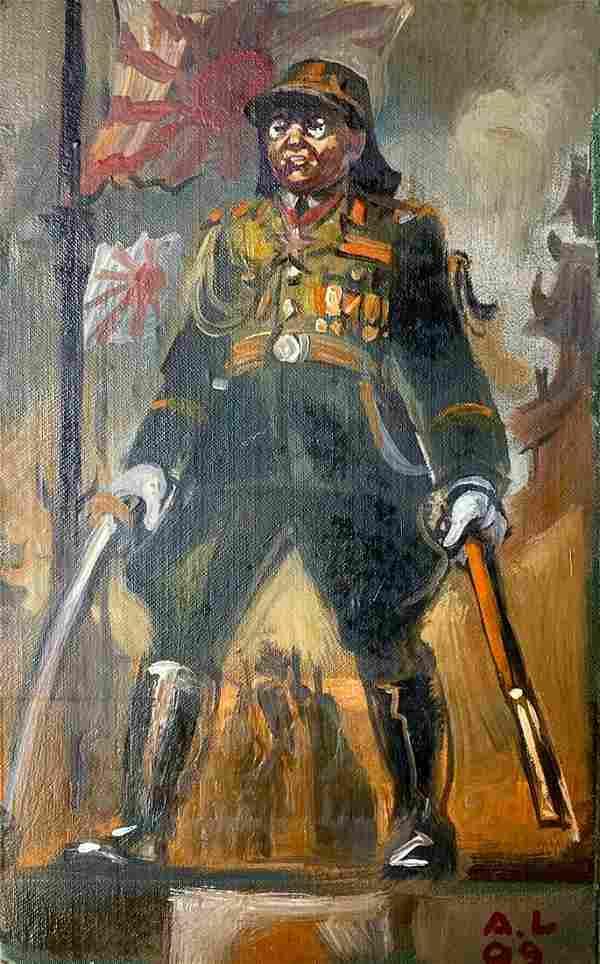 Oil painting Emperor's soldier Alexander Arkadievich