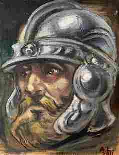 Oil painting Warrior Alexander Arkadievich Litvinov
