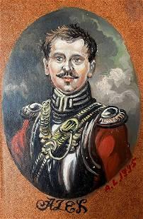 Oil painting Portrait of a noble man Alexander