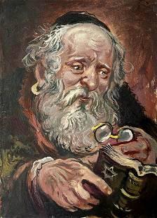 Oil painting Talmud Alexander Arkadievich Litvinov
