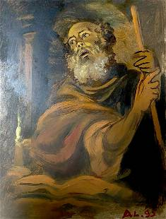Oil painting Denial of the Apostle Peter Alexander