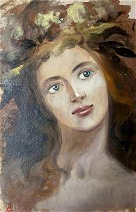 Oil painting Portrait of a girl Alexander Arkadievich