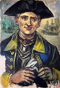 Oil painting Admiral Alexander Arkadievich Litvinov