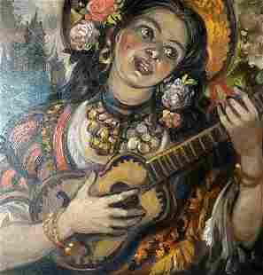 Oil painting Song Alexander Arkadievich Litvinov