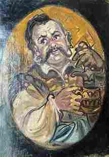 Oil painting Fun Alexander Arkadievich Litvinov