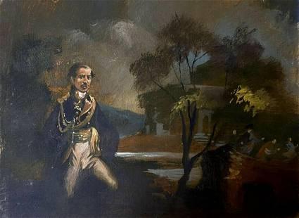 Oil painting 18 century Alexander Arkadievich Litvinov