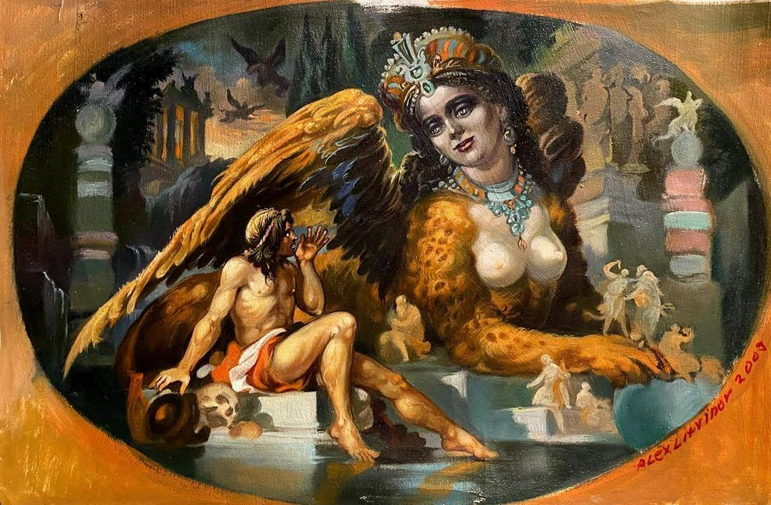 Oil painting Sphinx Alexander Arkadievich Litvinov