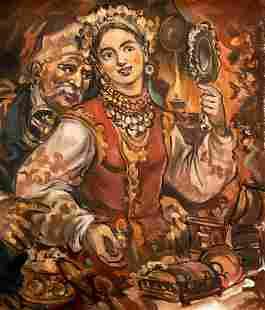 Oil painting Oksana Alexander Arkadievich Litvinov