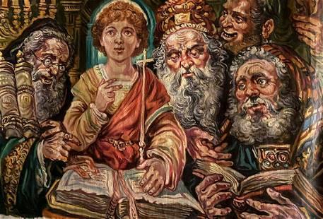 Oil painting Christ among teachers Alexander