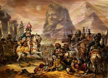 Oil painting Napoleon in Egypt Alexander Arkadievich