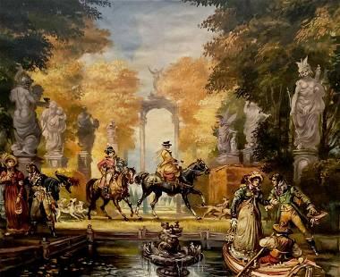 Oil painting Protupka 19th century Alexander