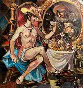 Oil painting Toast Alexander Arkadievich Litvinov