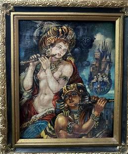 Oil painting Duet Alexander Arkadievich Litvinov