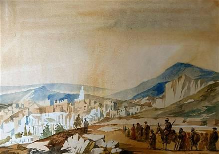 Watercolor painting Jerusalem Alexander Arkadievich