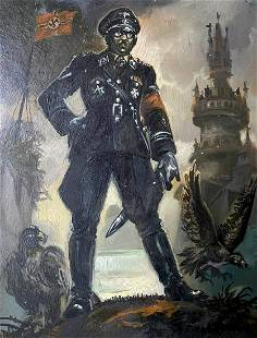 Oil painting Himmler's portrait Alexander Arkadievich