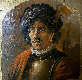 Oil painting Hussar portrait Alexander Arkadievich