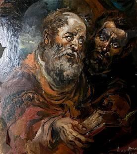 Oil painting Apostles Alexander Arkadievich Litvinov