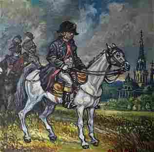 Oil painting Napoleon Alexander Arkadievich Litvinov