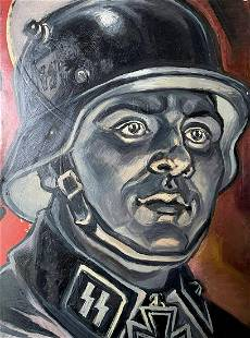 Oil painting Reich soldier Alexander Arkadievich