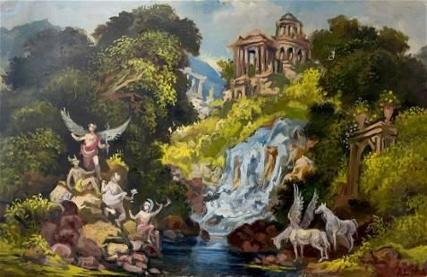 Oil painting Pegasus Alexander Arkadievich Litvinov