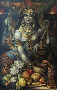 Oil painting Cleopatra Alexander Arkadievich Litvinov