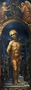 Oil painting Saint Sebastian Alexander Arkadievich