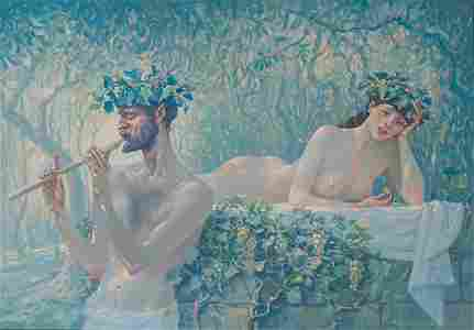 Acrylice painting Flute sounds Nicolay Vydcovsky