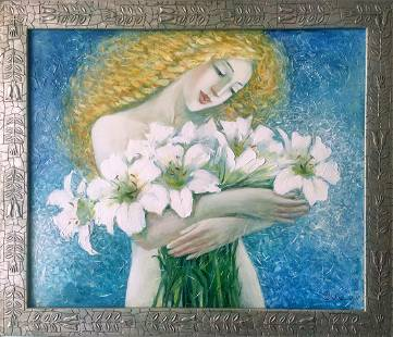 Oil painting Angel's day Titinin Yurii