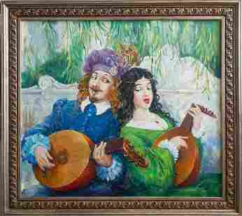 Oil painting New song Titinin Yurii