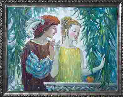 Oil painting Romeo and Juliet Titinin Yurii
