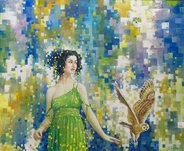 Oil painting Minerva Titinin Yurii