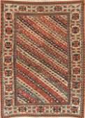 Pre-1900 Antique Vegetable Dye Kazak Caucasian Area Rug