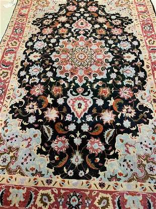 Hand Knotted Persian Tabriz 3x5 ft .Free Shipping