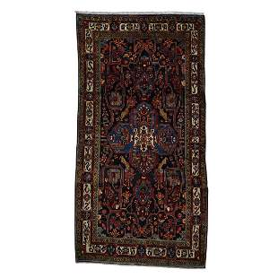 Hand-Knotted Pure Wool Persian Nahavanad Wide Runner
