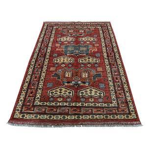 Afghan Ersari Pure Wool Hand-Knotted Oriental Rug