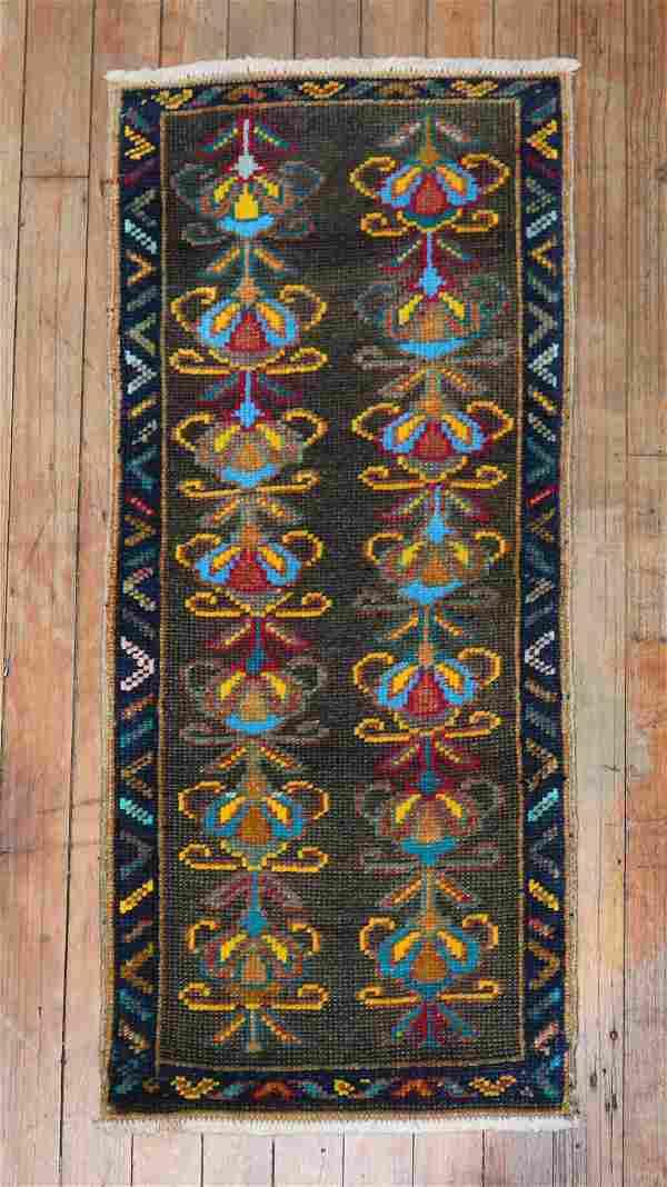 Turkish Vintage Anatolian Brown Rug