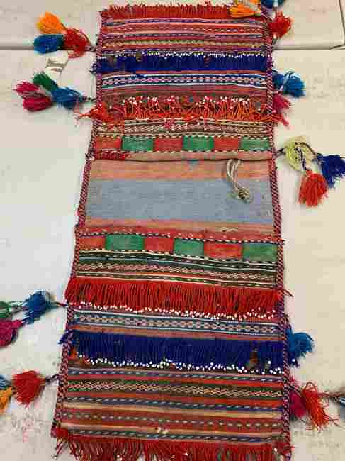 Hand Knotted Persian Tent Bag Rug 2.8x1.1 ft .Free