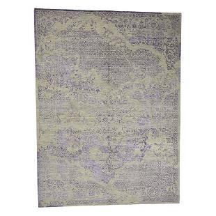 Wool and Silk Tone on Tone Broken Design Kashan Hand