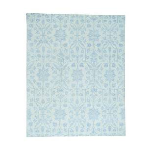 Hand-Knotted Tone-on-Tone Arts and Crafts Design
