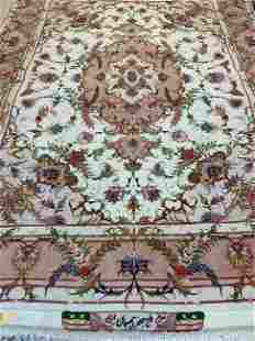 Hand Knotted Persian Tabriz 5x7 ft .Free Shipping