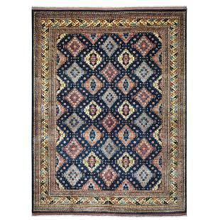 Blue Afghan Turkoman Ersari All Over Design Pure Wool