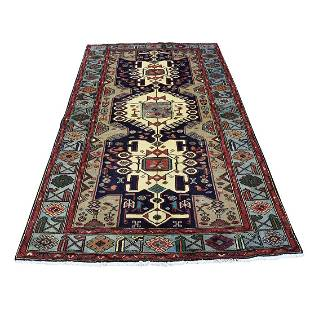 New Persian Mosel Pure Wool Hand-Knotted Oriental Rug