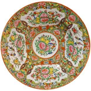 Chinese Rose Medallion Round Bowl Circa 1850