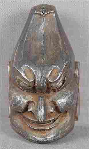 19c netsuke Gigaku mask of BARAMON