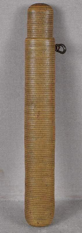 19c woven Japanese pipe case KISERUZUTSU
