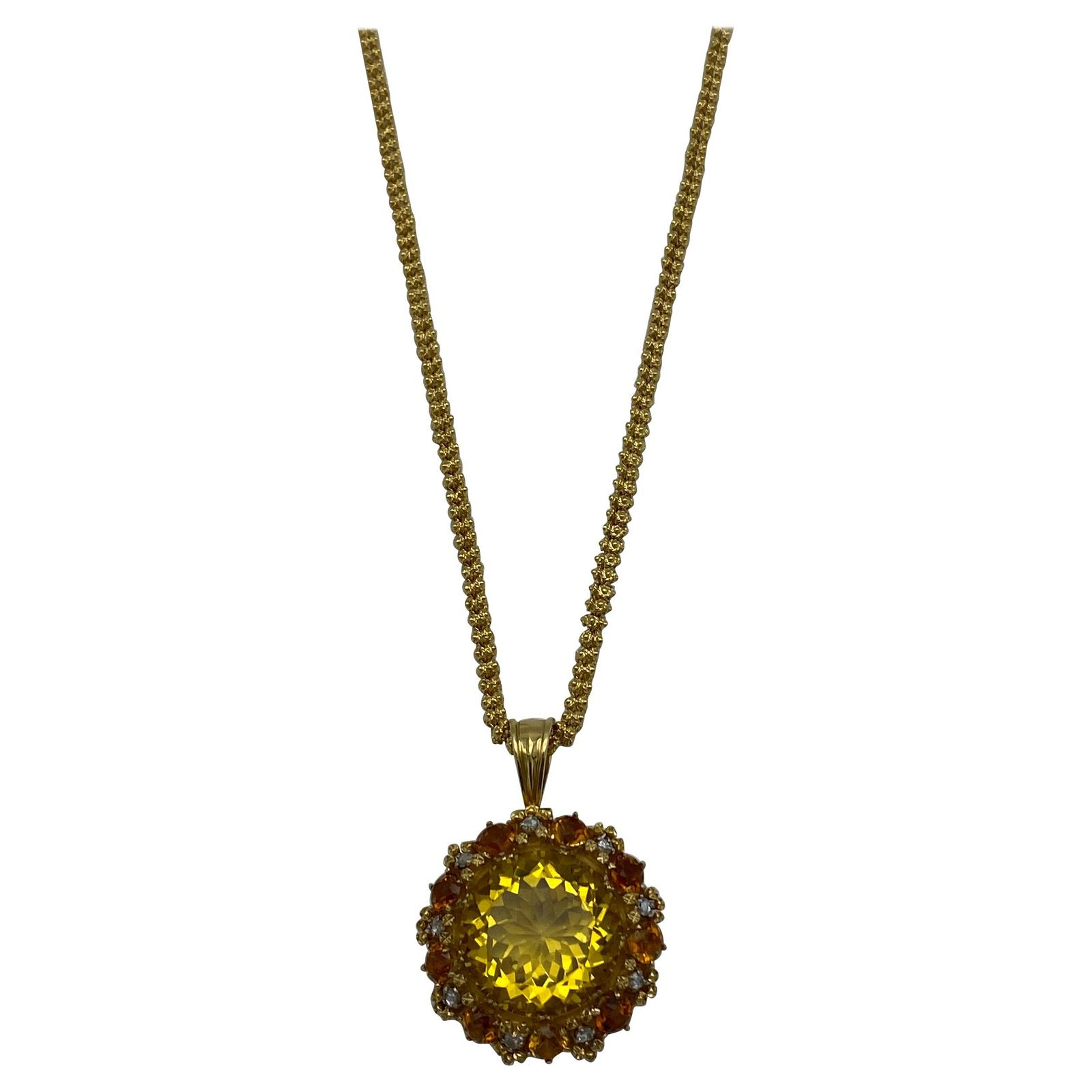 Victorian Yellow Gold, Citrine and Rose Cut Diamond