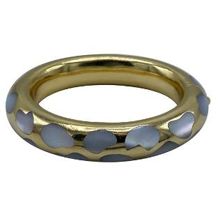 Vintage Tiffany & Co. Yellow Gold and Mother of Pearl