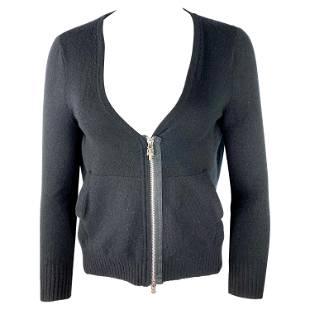 Vintage Chrome Hearts Black Cashmere Blazer Sweater,